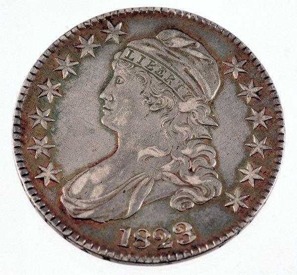 1: 1823 Capped Bust Half Dollar VF