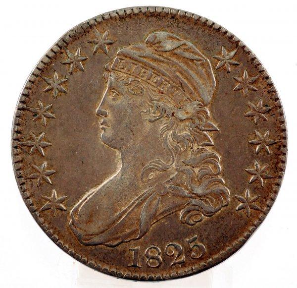 3: 1825 Capped Bust Half Dollar XF
