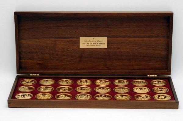 6: Set 24 Life of Jesus Sterling Silver Medallions