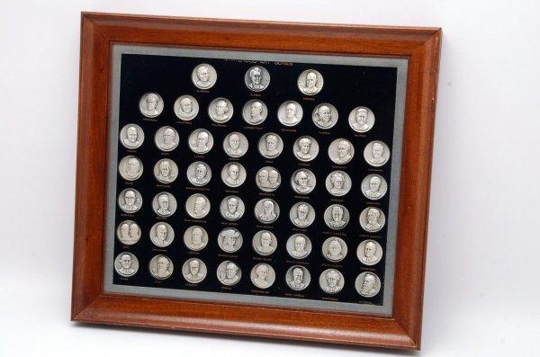 8: Set 50 Statehood Art Series Silver Medallions