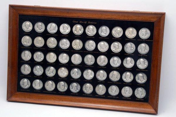 10: Set 50 Great Men of Medicine Silver Medallions