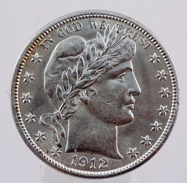 11: 1912 Barber Half Dollar