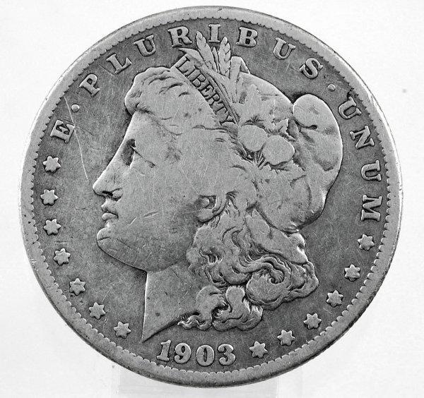 16: 1903-S Morgan Silver Dollar VG