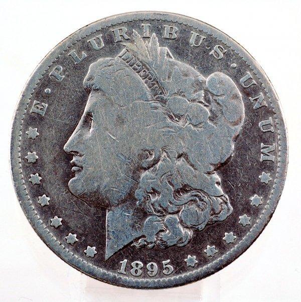 18: 1895-O Morgan Silver Dollar VG