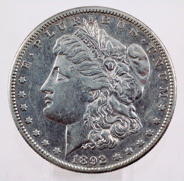 19: 1892-S Morgan Silver Dollar VF