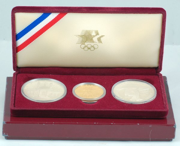 23: 1984-W 3 Piece US Olympic Set w/ Gold