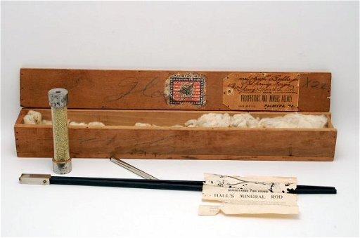 140: 19th C Cased Divining Rod Hall's Mineral Rod