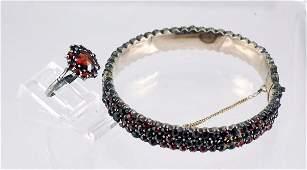 174 Garnet Bracelet and Ring