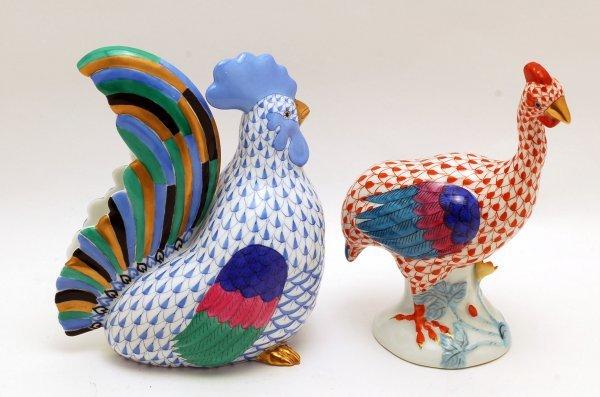 441: Herend Rooster & Guinea Hen
