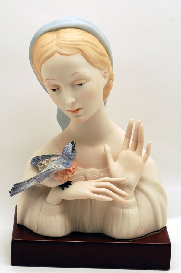 442: Cybis Figurine Madonna with Bird