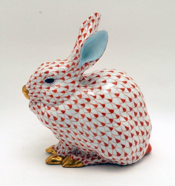 443: Herend Porcelain Rabbit Figurine