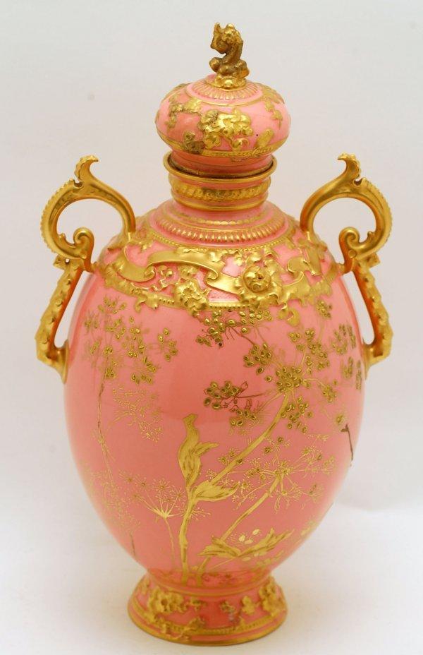 447: Large Royal Crown Derby Covered Vase