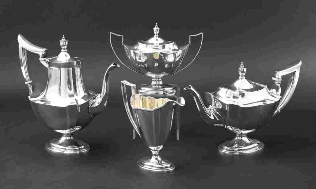 4 Pcs Gorham Plymouth Sterling Tea Set