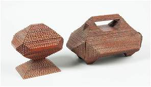 2 Tramp Art Boxes