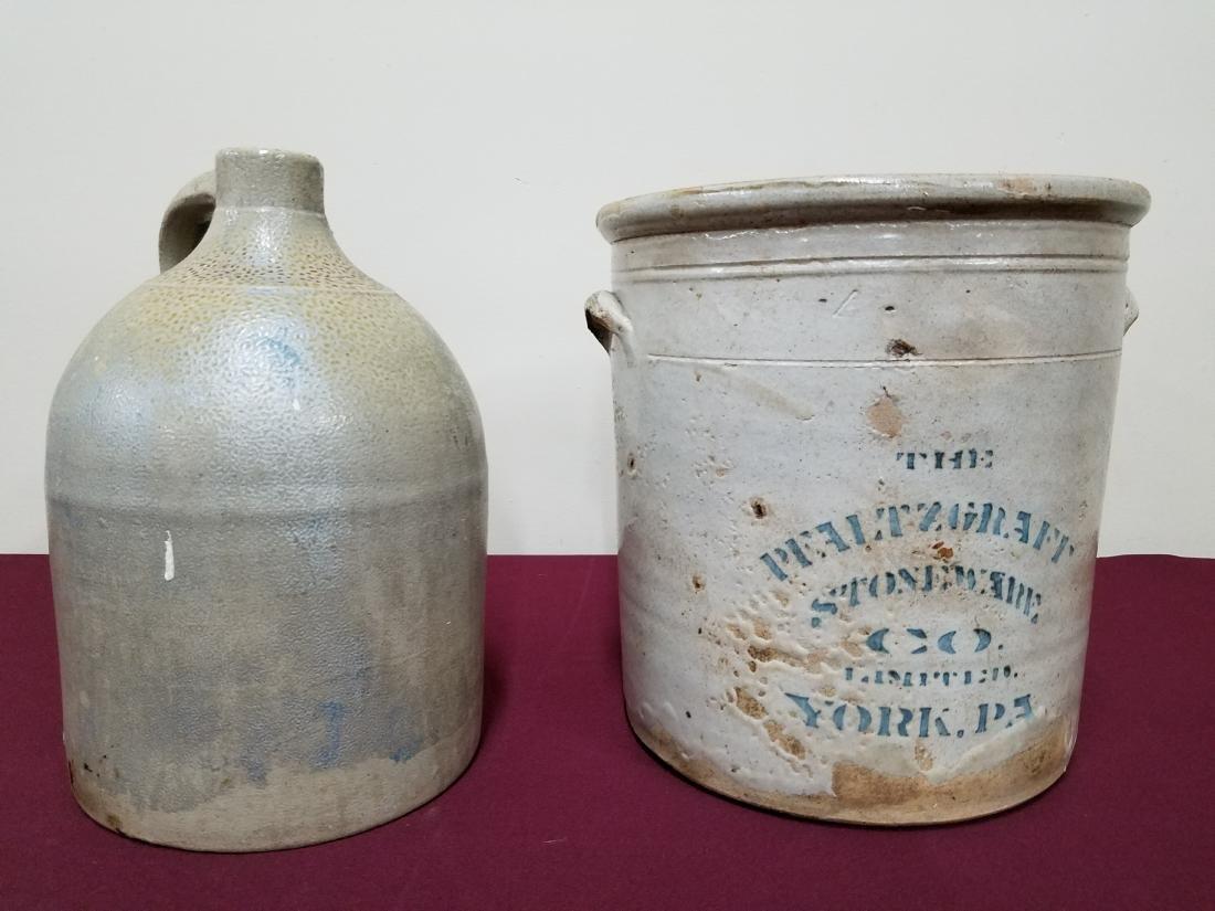 Pfaltzgraff Crock and Stoneware Jug