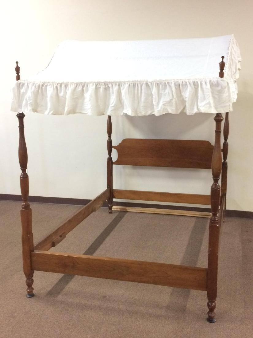 Bed frame with canopy