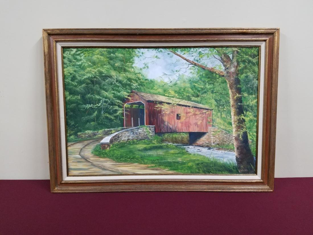 Pavlichke Covered Bridge Painting