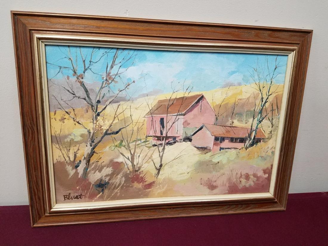 E. Blust Farm Painting