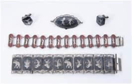 4 Pcs Siam Sterling Jewelry