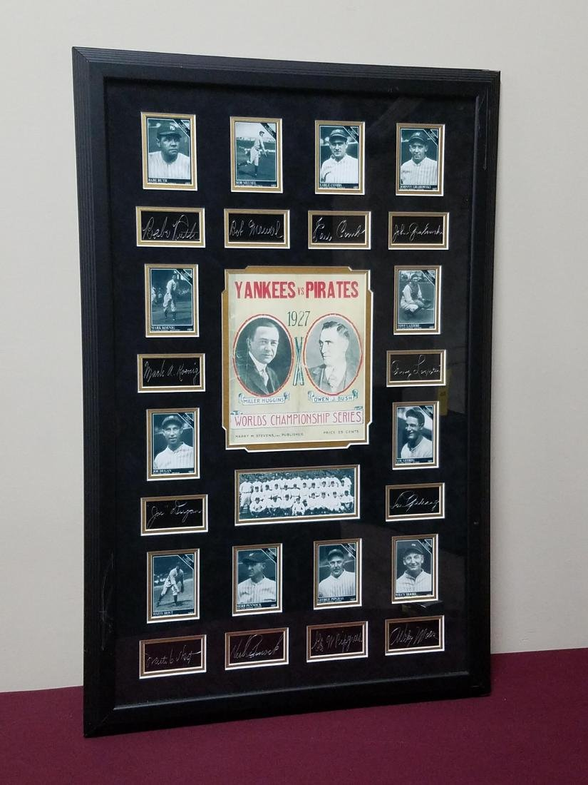 Yankees VS Pirates Card Prints featuring Babe Ruth