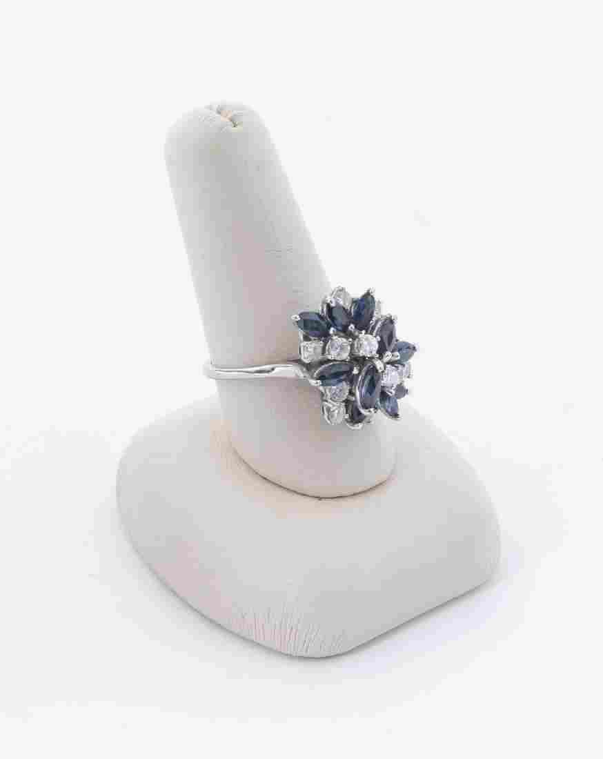 14k Sapphire & .96 CTW Diamond Cocktail Ring