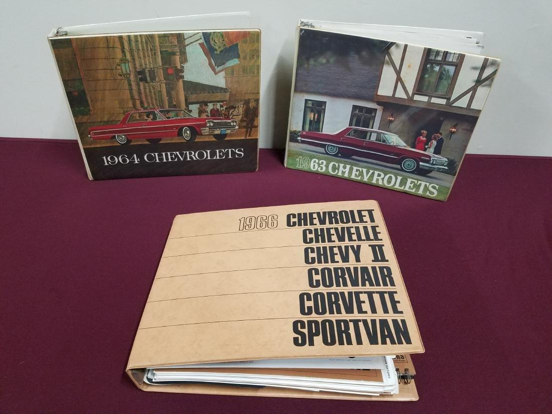 3-1960s Chevrolet Car Catalogs