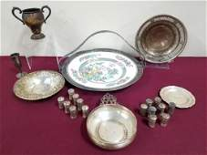 22 Pcs Sterling and Silverplate