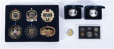 5 Items Incl American Silver Eagles