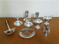 12 Pcs. Silverplate and Sterling