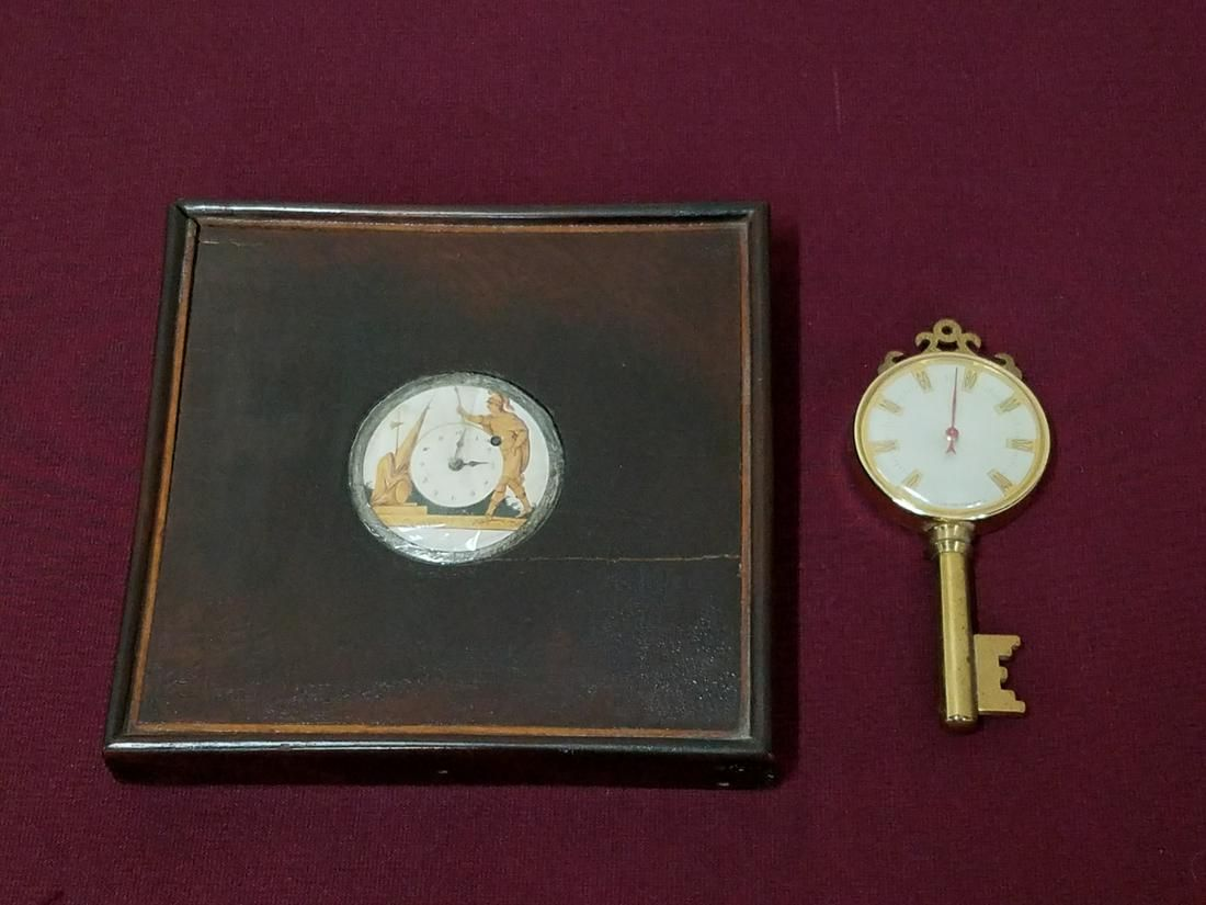 French Desk Thermometer and Watch Holder