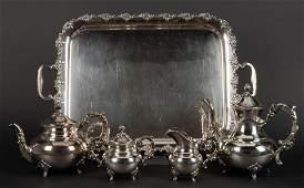 5 Pc Emile Hermann Sterling Storage Tea Set