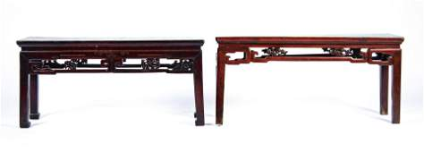 2 Antique Chinese Benches