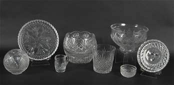 8 Pcs Waterford Crystal Incl Bowls