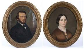 Pr of 19th C. Portraits