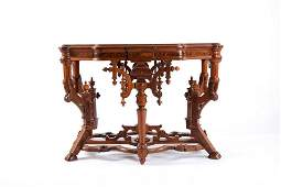 Renaissance Revival Victorian Marble Top Table