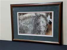 Judy Larson Red Horse Print