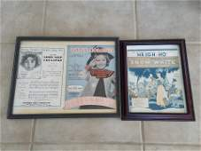 2 Pcs of Framed Sheet Music