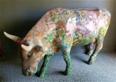 "2004 Life Size ""Posie"" Harrisburg Cow Parade Cow"