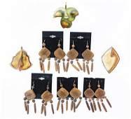 8 Pcs Pendants and Earrings