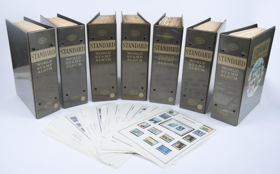 7 HE Harris Standard World Stamp Albums