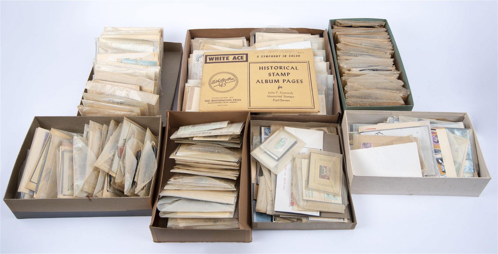 7 Boxes Mint NH Foreign Stamps