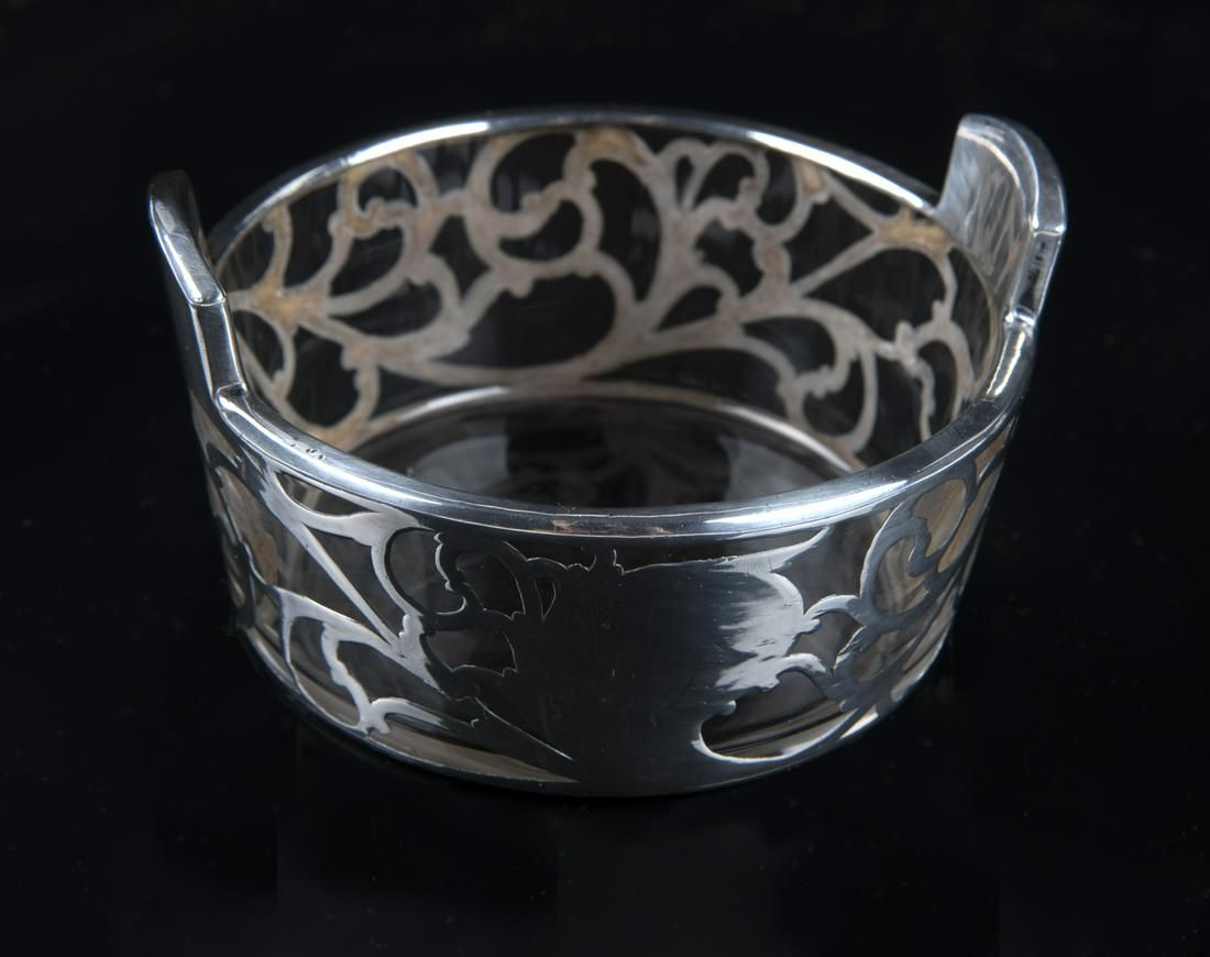 Sterling Overlay Dish