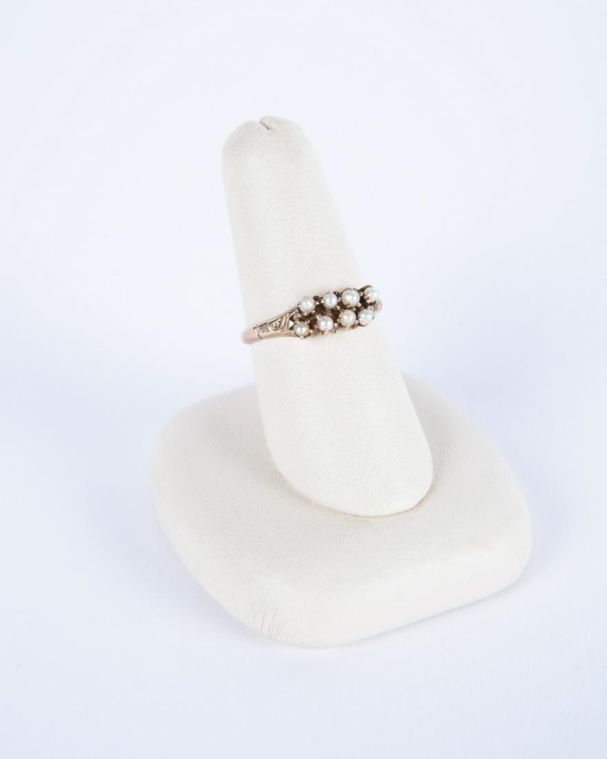 10k Rose Gold Pearl Ring