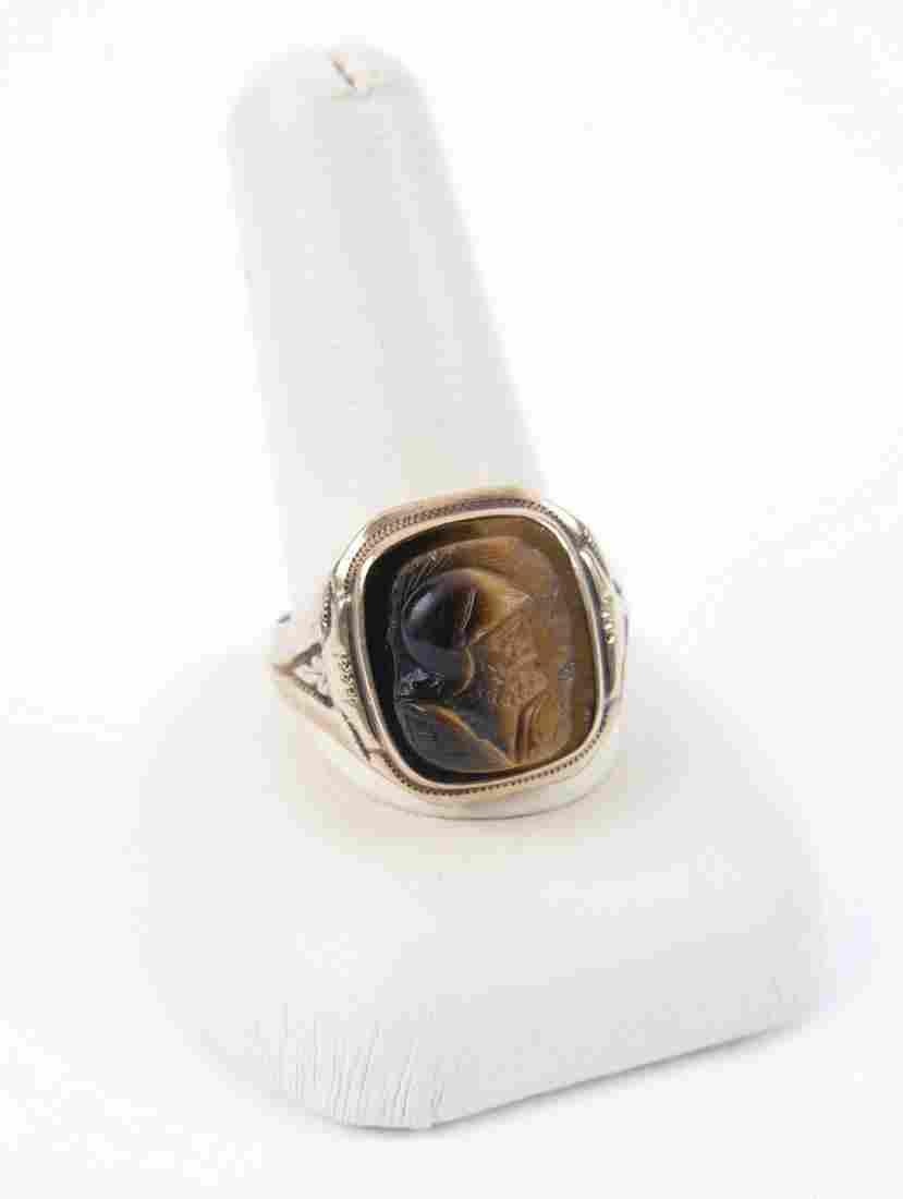 10k Tigers Eye Ring