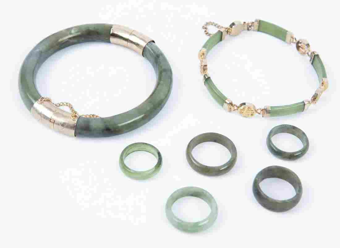 7 Pcs Jade Jewelry