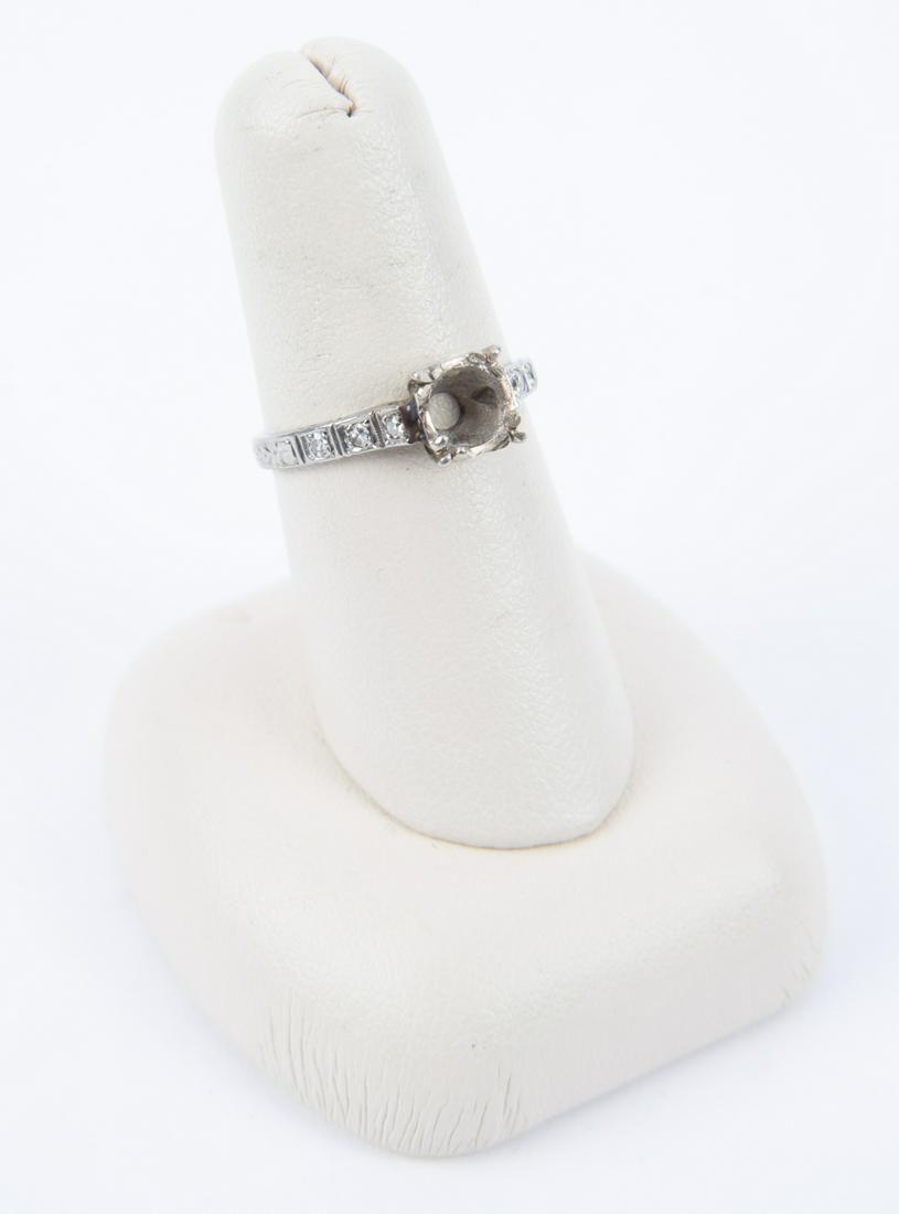 18k White Gold Diamond Ring Setting