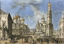 Russian Watercolor 19th Century