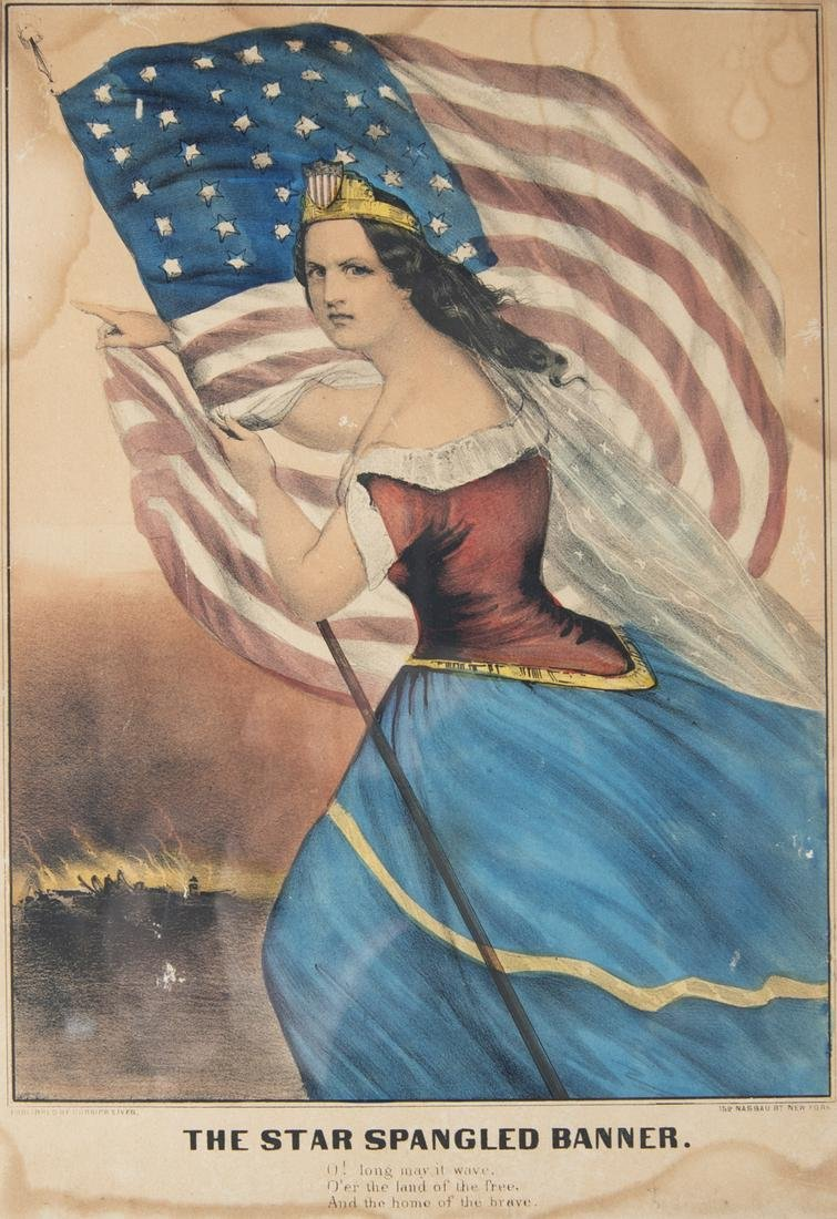 """Currier & Ives """"The Star Spangled Banner"""""""