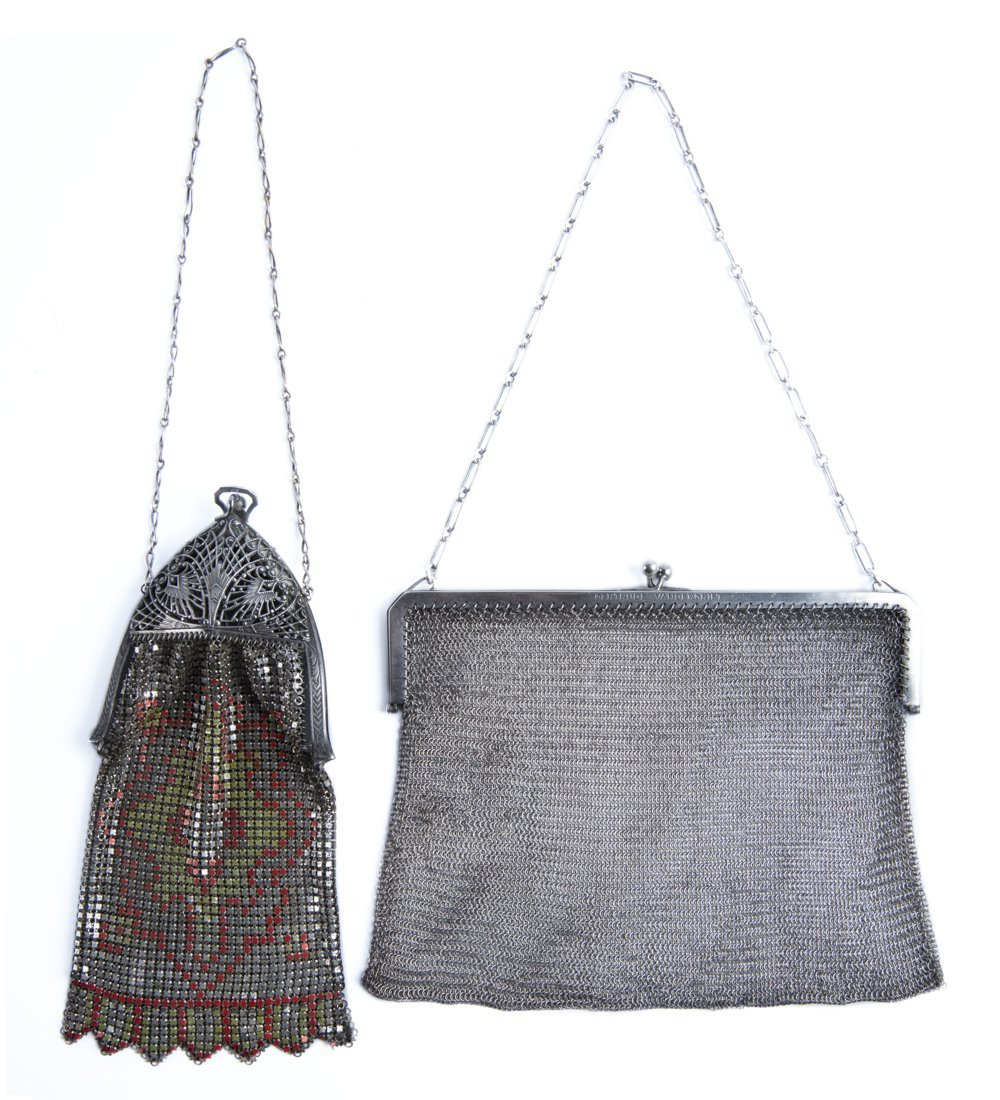 2 Silver Mesh Bags incl Sterling