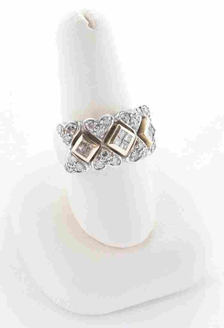 14k .72 CTW Diamond Heart Ring